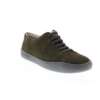 Camper Peu Touring  Mens Green Suede Lace Up Euro Sneakers Shoes