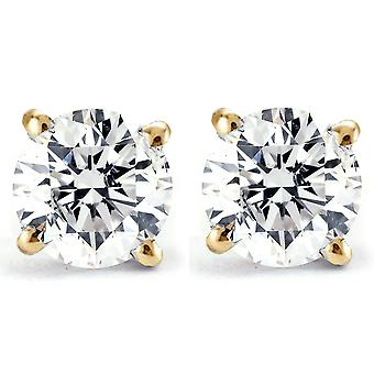 1 / 4ct diamante borchie 14k oro giallo