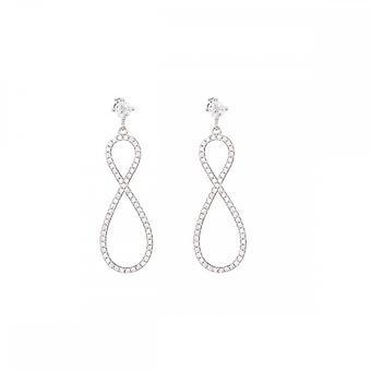 Silver örhängen och zirkonium oxider - 8 Glittrande;