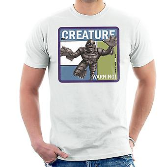 The Creature From The Black Lagoon Warning Men's T-Shirt