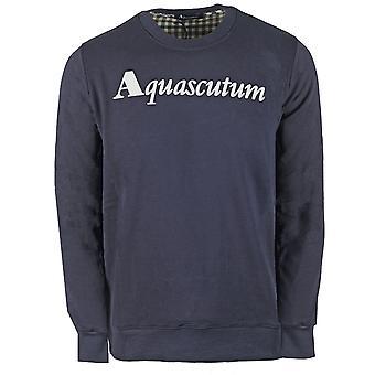 Aquascutum Box Logo Laivaston Collegepaita