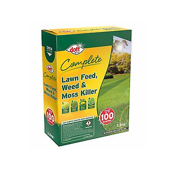 Doff Complete Lawn Feed Weed & Moss Killer 3.2kg F-LM-100-DOF-02