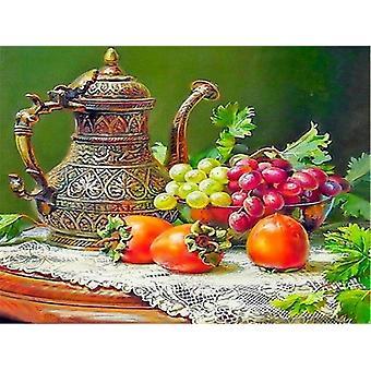 Peinture acrylique vintage de décor de maison peinte à la main sur la toile unframe fruits Diy Huile
