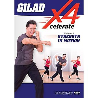 Gilad: Xcelerate 4 - 4 Strength in Motion [DVD] USA import