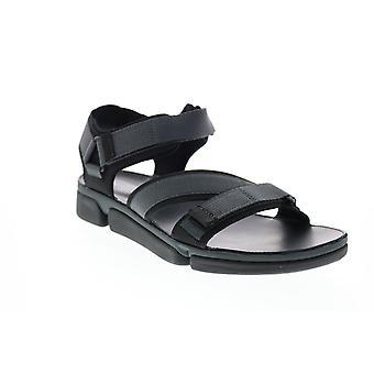 Clarks Tri Cove Sun  Mens Black Canvas Sport Sandals Sandals Shoes