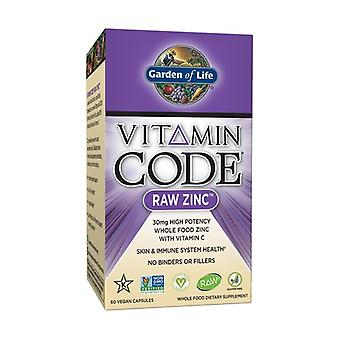 Vitamin Code raw zinc 60 vegetable capsules