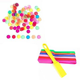Montessori Magnetic Stick Wand Set With Transparent Counting Chips With Metal
