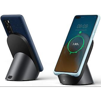 CP62 Huawei Qi trådløs super hurtiglader 40W og stativ med USB-C - svart