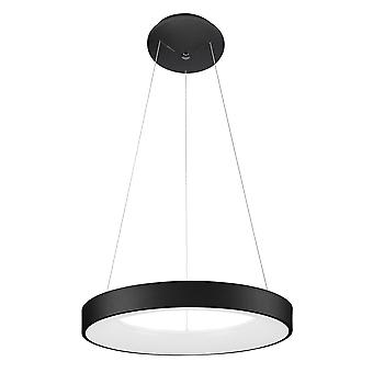 Moderne LED Opknoping Hang Hang Hang Zwart, Warm Wit 3000K 2200lm