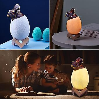 Led 3d Printed Triceratops Egg Bedside Lamp Remote Control Toy