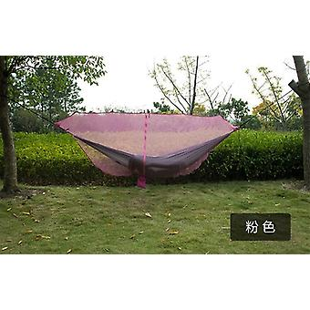 Hammock Mosquito Net Fabric Nylon Camping Double Person Foldable Separating
