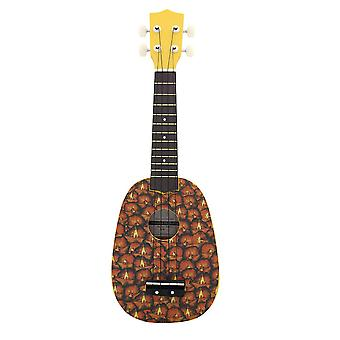 21inch Ukelele String Instruments 4 String Guitar Mini Guitar Yellow Pineapple
