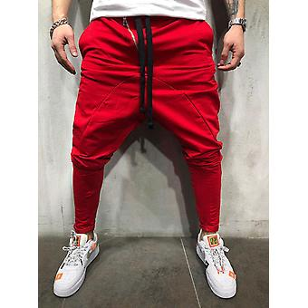 Hip Hop Streetwear Splice Joggers Fashion Men Casual Pant