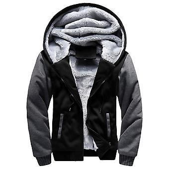 Sweats à capuche pour hommes, Toison chaude épaisse d'hiver, manteau zipper, vêtements de sport, homme