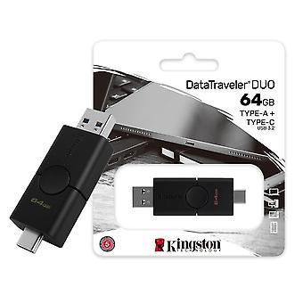 Kingston DataTraveler DUO USB-A / USB Typ-C Portar - 64GB