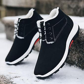 الشتاء، الثلج مريحة أحذية الكاحل الدافئة، ارتداء أحذية القطن المقاومة والمخملية