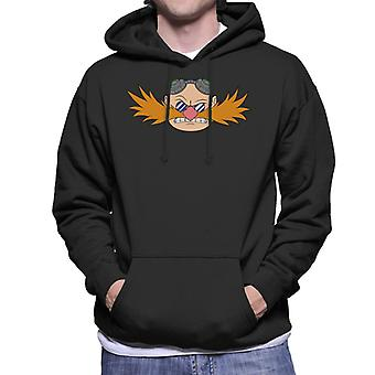 ソニック・ザ・ヘッジホッグドクターエッグマン眉をひそめキャラクターヘッドメン&アポス;sフード付きスウェットシャツ