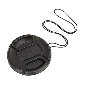 1Pcs universal center pinch snap-on front lens cap 37mm 40.5mm 43mm 46mm 49mm 52mm 58mm 62mm 67mm 72