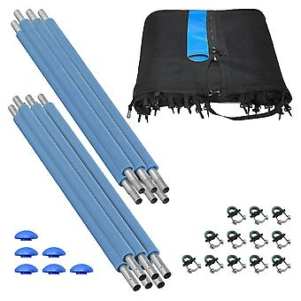 Trampoline Enclosure Set (6 Poles) to fit 10 FT. Frame with 3 or 6 W-Shaped Legs