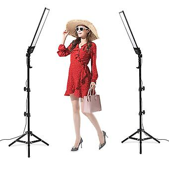 Heorryn photography studio led lighting kit with 192pcs led 3200-5500k dimmable video light and 2m a
