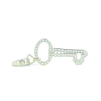 Fósiles colgantes encantos JF00031710 clave oro diamantes