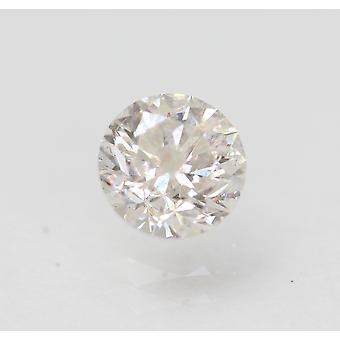 Certifié 0.70 Carat E I1 Round Brilliant Enhanced Natural Loose Diamond 5.48mm