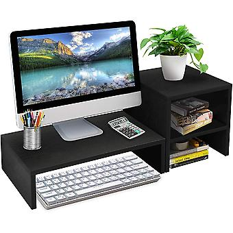 SUMGOTT Computer Monitor Stand with 2 Tiers and Desk Organizer Stand Storage Shelf