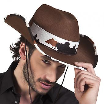 Cowboy hat Polyester Brown One-Size