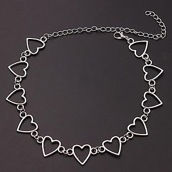 Heart Shape Chain Barbed Wire Necklace Creative Accessories