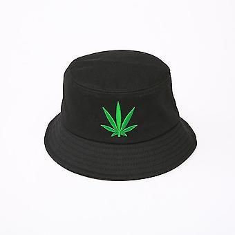 Men Women Maple Leaf Bucket Hat, Hip Hop Fisherman Cap