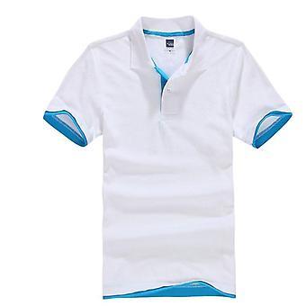الصيف الكلاسيكية بولو قميص، رجال القطن الصلبة قصيرة الأكمام تي، تنفس،