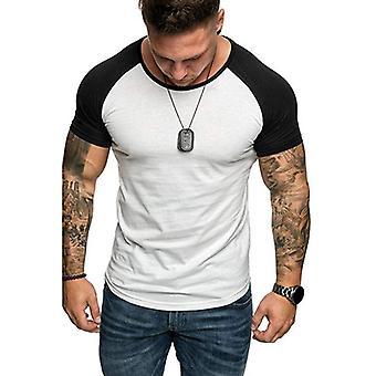 男性ジムフィットネス半袖Tシャツ、スキニー通気性ボディービルワークアウト