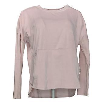 Cuddl Duds Women's Velvet Fleece Pullover Pajama Top Pink A381811