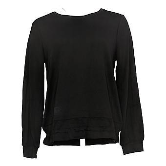 أي شخص المرأة & apos;ق أعلى محكم متماسكة طويلة الأكمام الأسود A374507