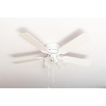 Ceiling fan Kisa Deluxe WH White / Maple with lights