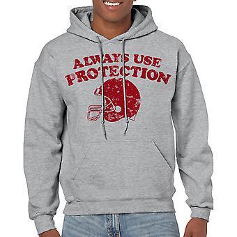 Humor Protection Men's Sports Grey Hoodie