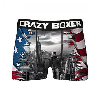 Crazy Boxers Patriotic New York Skyline Boxer Briefs