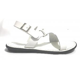 Men's Shoes Elite Sandal Bands White Leather Craft Us17el35