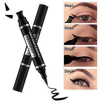 Liquid Eyeliner Stamp Marker Pencil, Waterproof, Double-ended Eye Liner Pen,