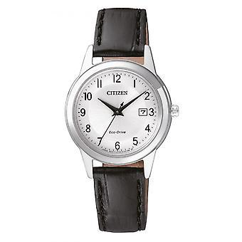 Kobieta zegarek CITIZEN MONTRES FE1081-08A - Czarna bransoletka skórzana