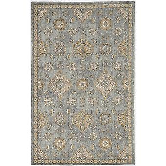 2'x3' Sage Green Machine Woven Vintage Traditional Indoor Accent Rug