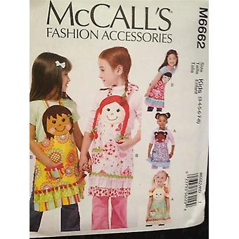 McCalls Naaipatroon 6662 Kinderen Meisjes Schorten Maat 3-8 Ongesneden