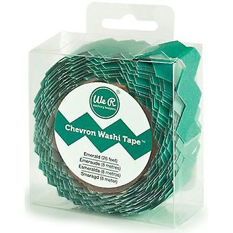 We R Memory Keepers Chevron Washi Tape - Emerald