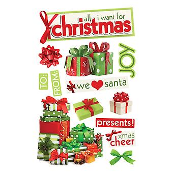 Paper House Productions - 3D Stickers - All I Want for Christmas