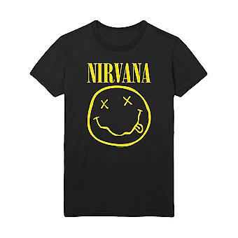 Men's Nirvana Smiley 'Flower Sniffin' Crew Neck T-Shirt
