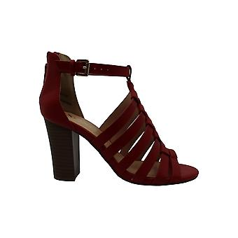 Xoxo Womens Baxter Leather Peep Toe Casual Ankle Strap Sandals