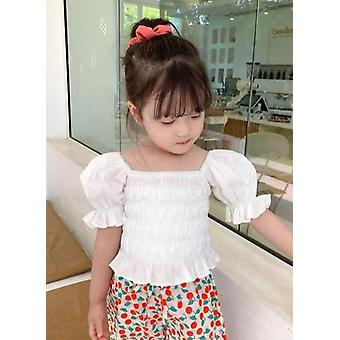 Summer Korea Style Puff Sleeve Baby Princess paidat