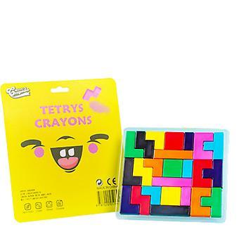 11-farve børns farveblyanter Tetris form studerende farve maleri farveblyanter sæt studerende kunst sikker ikke-giftige