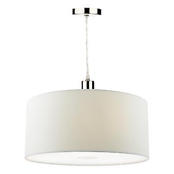 DAR RONDA Zylindrisch 40cm Easyfit Anhänger Licht Porzellan Weiß