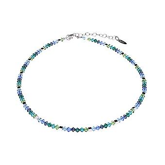"""by - Delicate """"Sana"""" glass necklace, with small polished glass beads and silver cubes, handmade in Berlin Ref. 425118864673"""